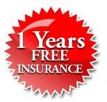 1 years free insurance logo