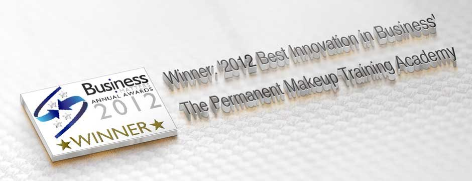 2012WinnerofinnovationinBusinessAwardPermanentMakeupTrainingAcademy