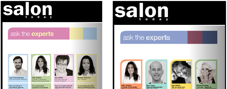 Katy Jobbins Regularly Features in the Salon Today Magazine on the Ask the Expert Panel