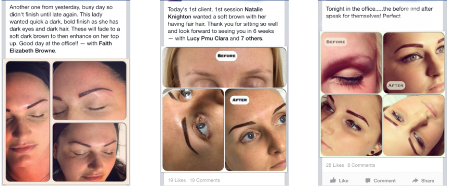 Students of the Permanent Makeup Training Academy Send in Images of their fine work to show how well they are getting on in Permanent Makeup post training