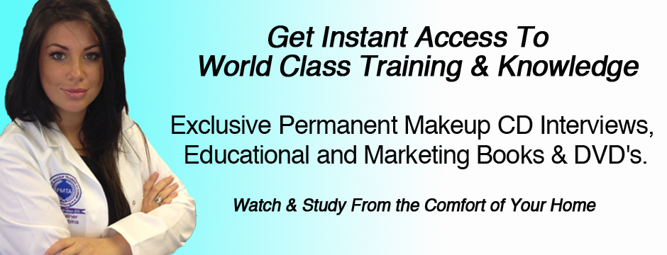 Permanent Makeup Training DVDs and Books from the Permanent Makeup Training Academy