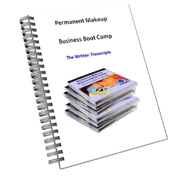 Permanent Makeup Business Boot Camp Written Transcripts Book Image