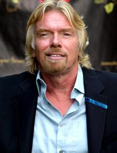 Sir Richard-Branson & katy Jobbins both previous winners of the Creme de la Crame Award