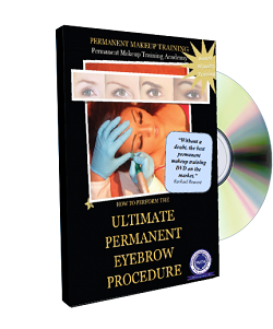 Permanent Makeup Video Demonstrations How To Perform The Ultimate Permanent Eyebrow Procedure Dvd cover