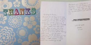 Katy Jobbins Student Thanks You Message from Jade