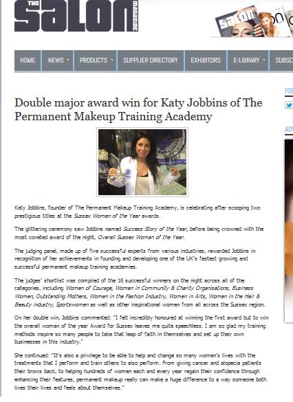 Katy's Award Win Feature On The Salon Magazine Website