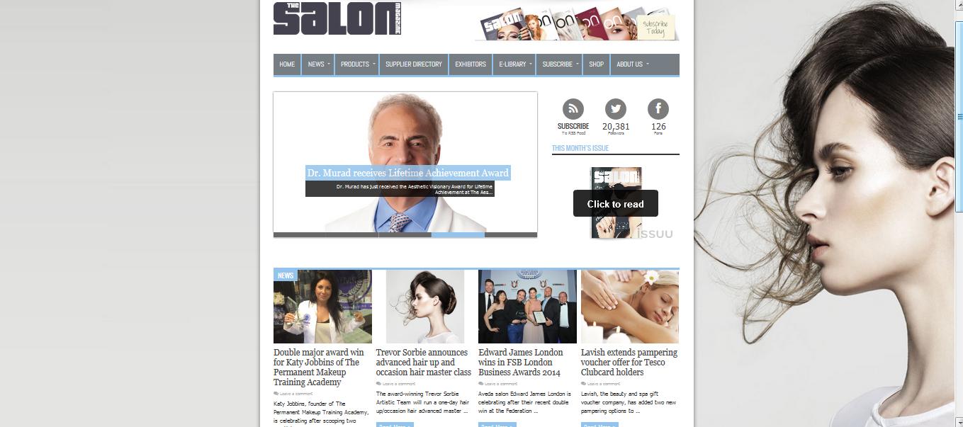 Katy Wins Award Featured on The Salon Magazine Website