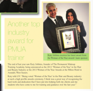 Katy wins Woman of the Year in Guild News Jan 2014