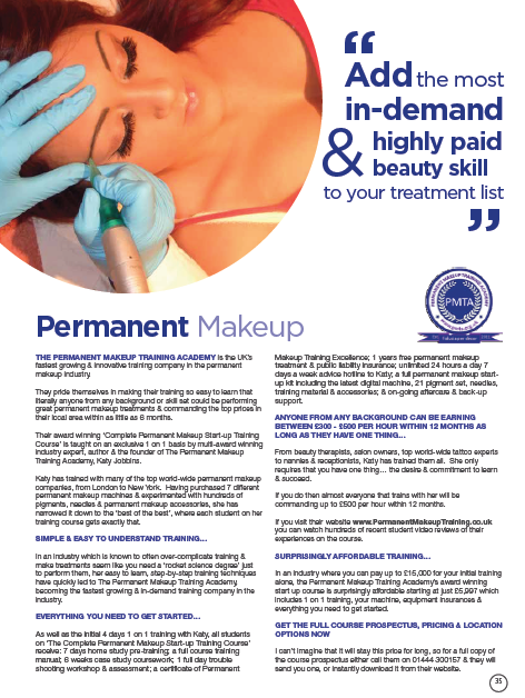 Permanent makeup training academy review salon today