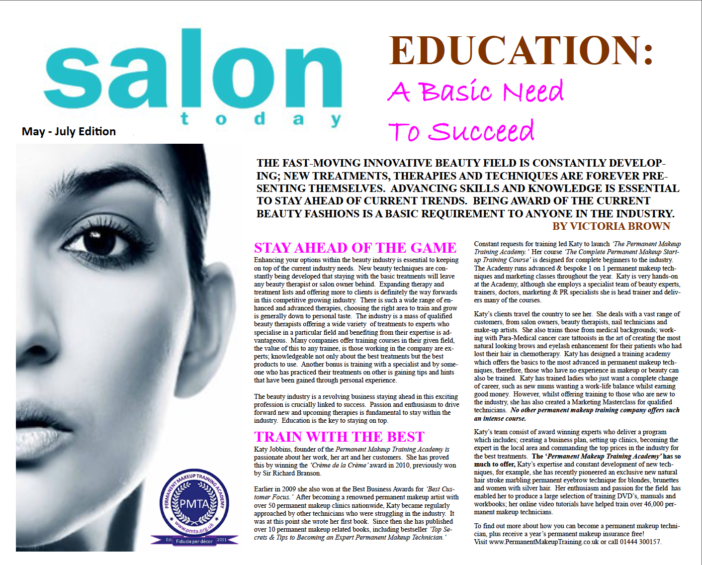 Permanent makeup training academy reviewed in salon today