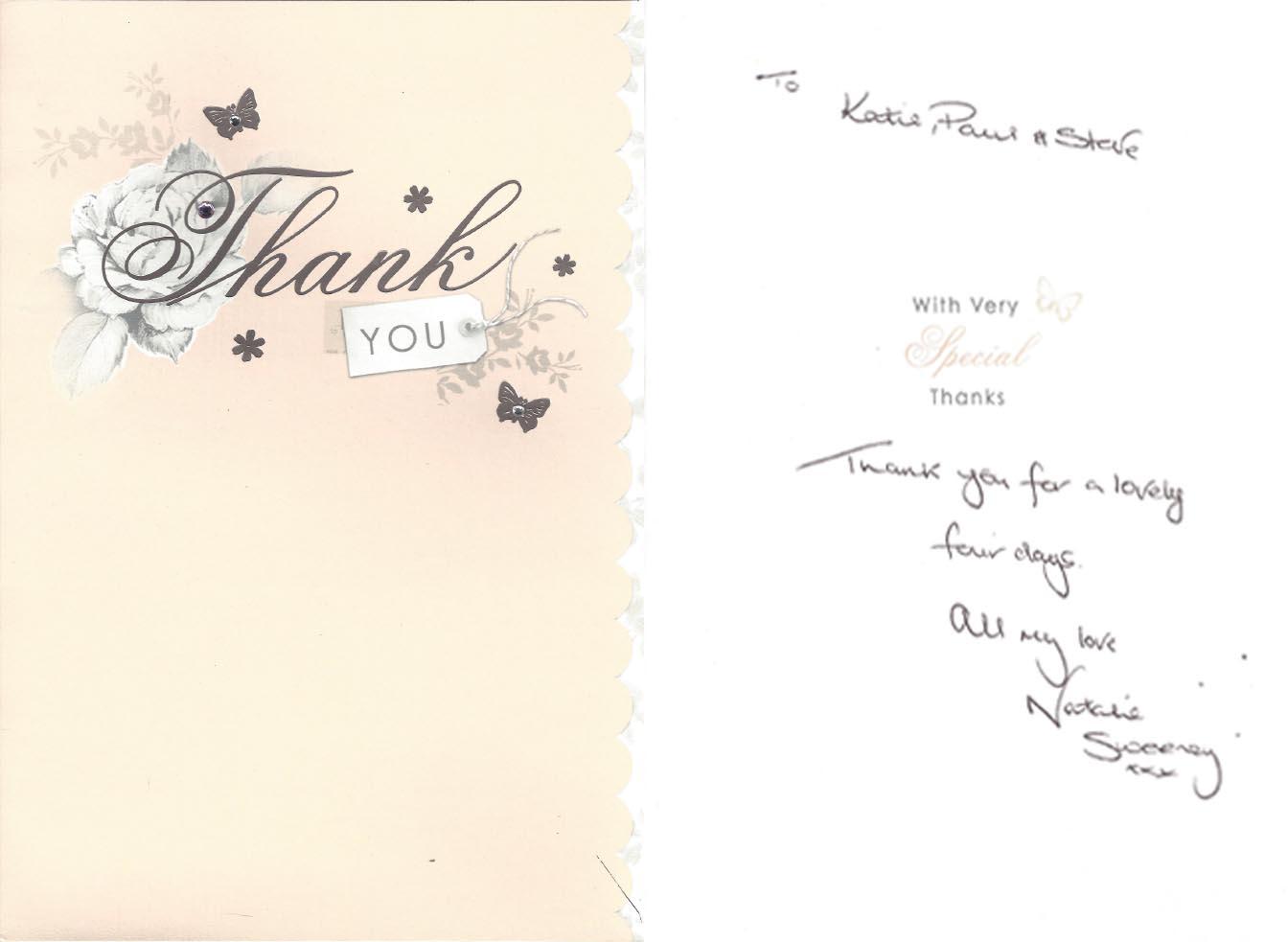 Permanent Makeup Training Academy Katy Jobbins Student Thank You Card Messages