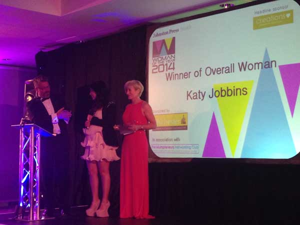 Katy Jobbins Sussex Woman of the Year 2014