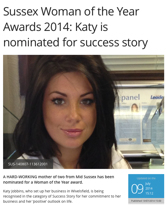 Katy in Chichester Observer