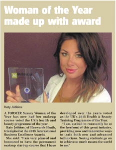 Katy Jobbins Featured in Leader News Paper for International Business Excellence Award