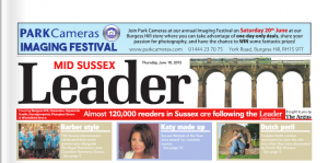 Katy Jobbins Featured on Leader News Paper Front Page