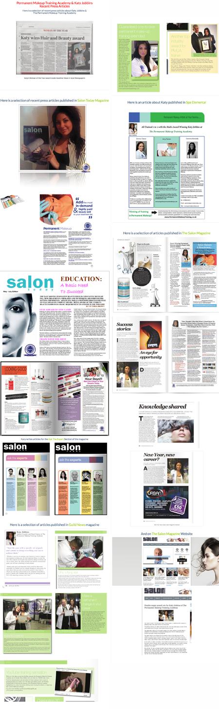 Permanent Makeup Training Academy Press Articles 2014-15