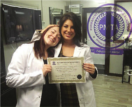 Katy Presenting Amy Packer With Her Certificate for Training