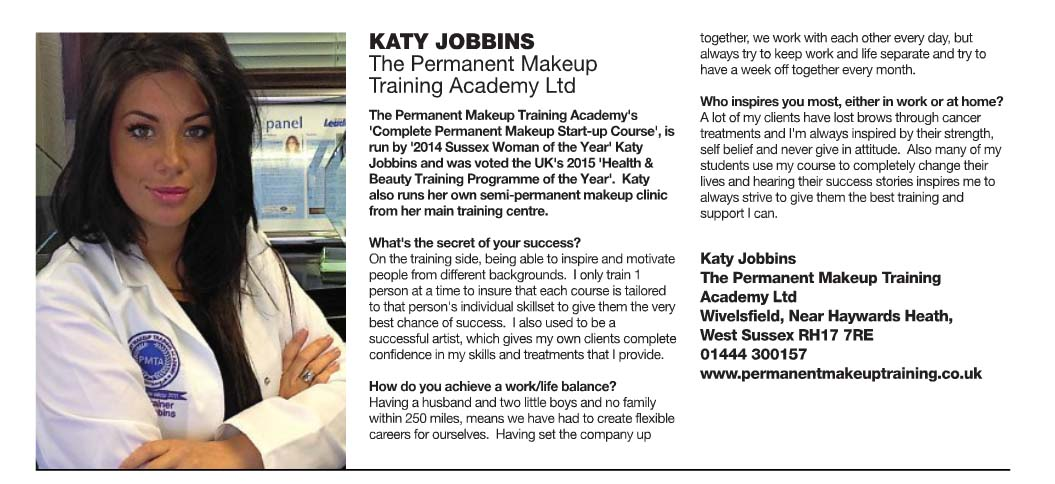 Sussex life leading ladies Katy Jobbins