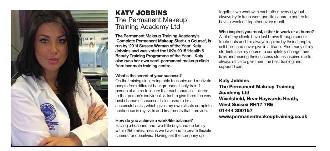 Sussex life leading ladies Katy Jobbins