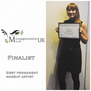 Natalie Named Finalist at Micropigmentation UK Awards