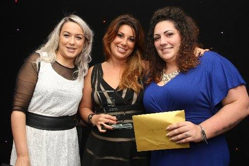 Permanent Makeup Training Academy & katy-jobbins-with-her-etc-training-centre-of-excellence-award-2016