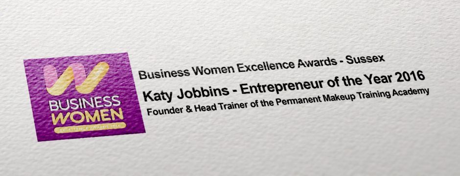 Katy Jobbins Entrepreneur of the Year 2016 Award banner