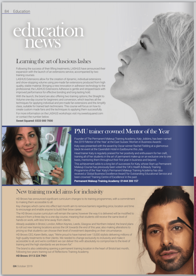 Katy Jobbins Named Mentor of the Year in the Guild News Oct 2019