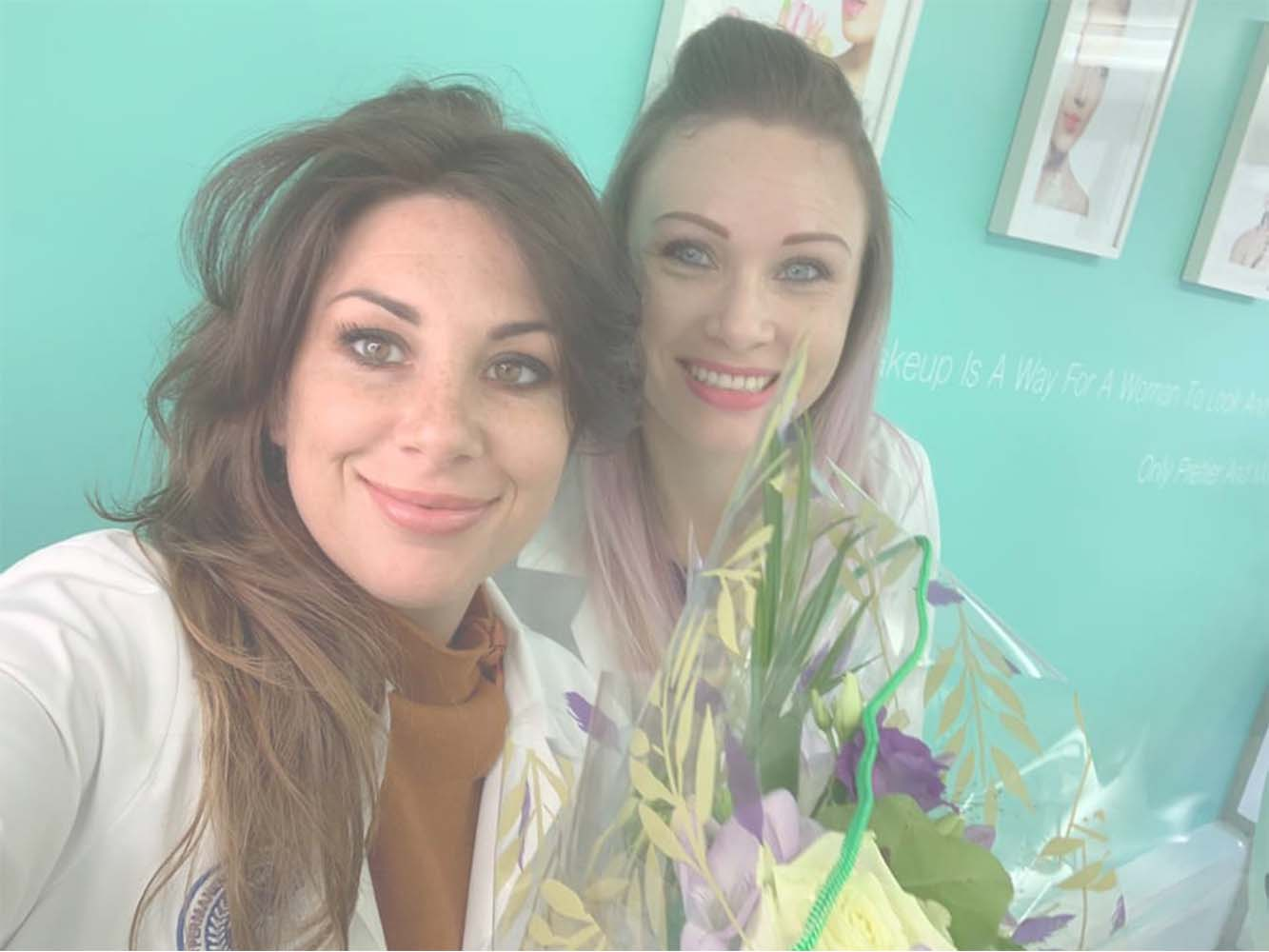 Katy with Permanent Makeup Training Student Vanessa