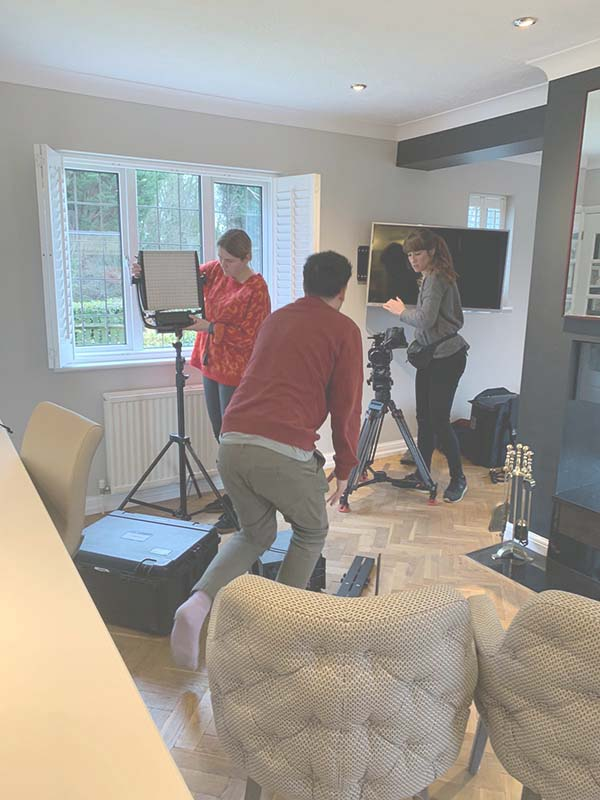 Camera Crew setting up at the House Rich House Poor House
